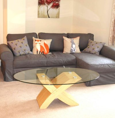 Ample size second reception, lots of extra comfy seating, as well as the double sofa bed shown here. Unlimited fast WiFi
