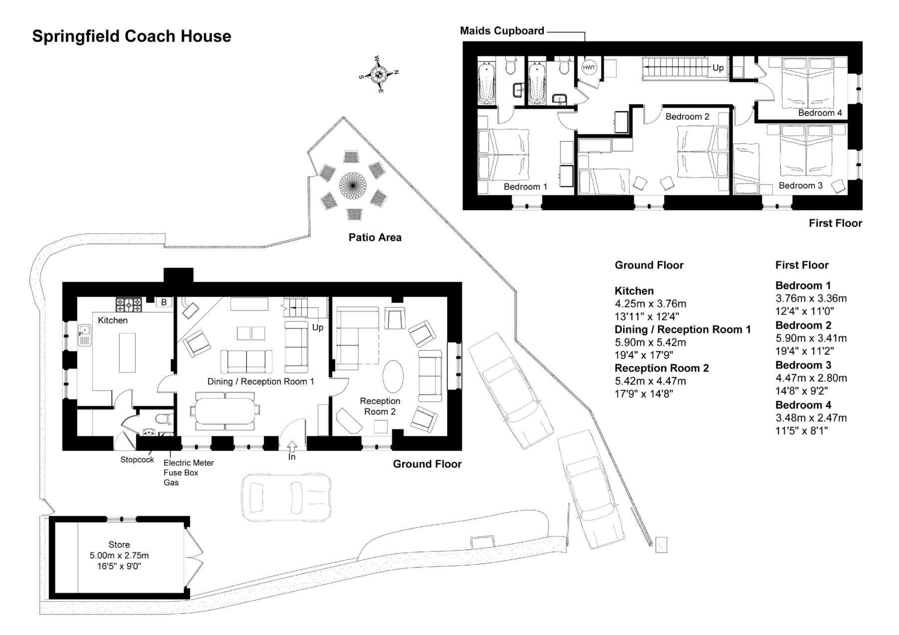 Floor Plan For Springfield Coach House Cotswolds Valleys Accommodation