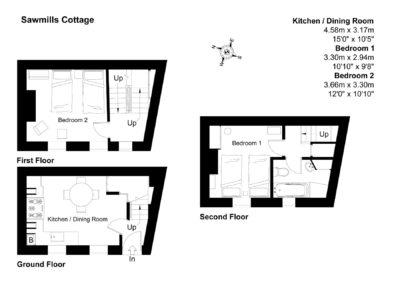Floor Plan for Sawmills Cottage