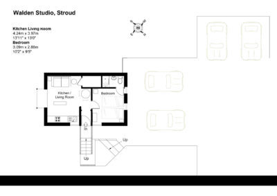 Floor Plan for Walden Studio