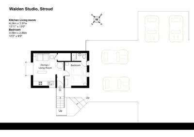 Floor Plan for Walden Studio