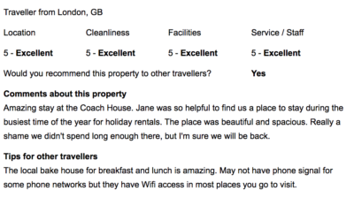Review from Freetobook - Rated Excellent