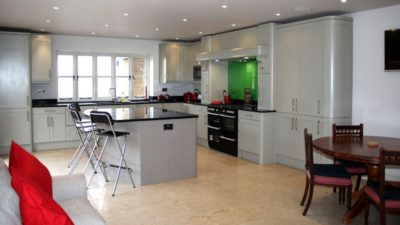 The Retreat - a spacious fully equipped social kitchen with breakfast bar & fabulous views