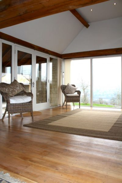 The Retreat - outstanding views across Nailsworth Valley toward Amberley & The Black Horse