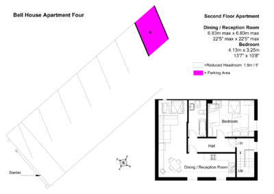Floor Plan of Bell House Apartment Four