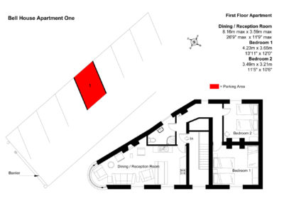 Floor Plan of Bell House Apartment One